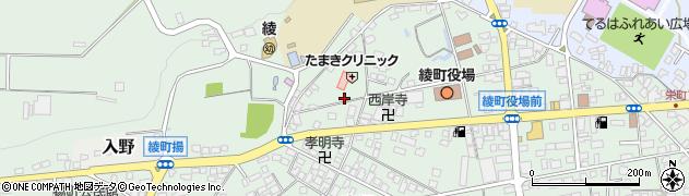 宮崎県東諸県郡綾町南俣深田周辺の地図