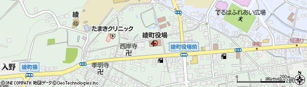 宮崎県綾町(東諸県郡)周辺の地図