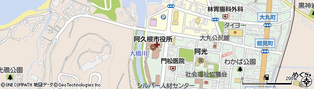 鹿児島県阿久根市周辺の地図