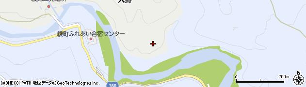 宮崎県東諸県郡綾町入野椎屋周辺の地図