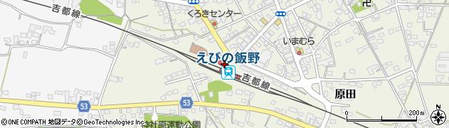 宮崎県えびの市周辺の地図