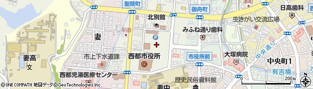 宮崎県西都市周辺の地図