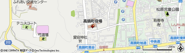 宮崎県高鍋町(児湯郡)周辺の地図