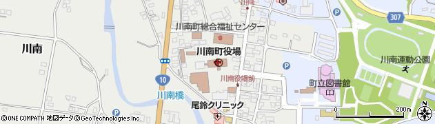 宮崎県児湯郡川南町周辺の地図