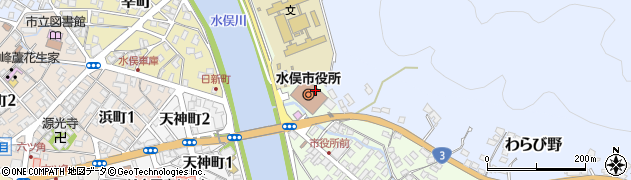 熊本県水俣市周辺の地図