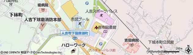 熊本県人吉市周辺の地図