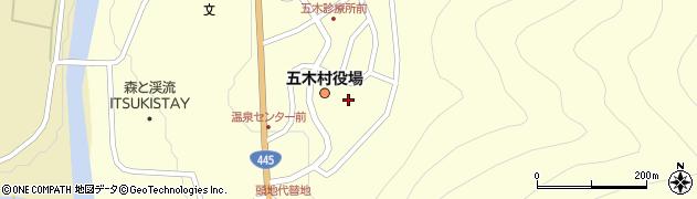 熊本県五木村(球磨郡)周辺の地図