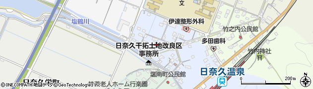 熊本県八代市日奈久塩北町周辺の地図