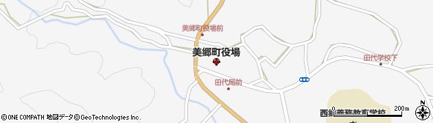 宮崎県東臼杵郡美郷町周辺の地図