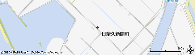 熊本県八代市日奈久新開町周辺の地図