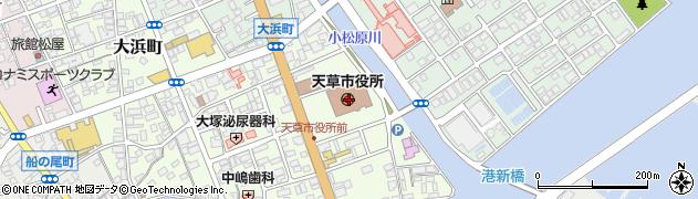 熊本県天草市周辺の地図