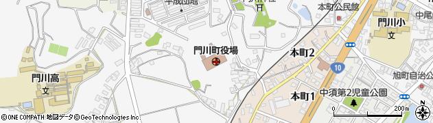 宮崎県東臼杵郡門川町周辺の地図
