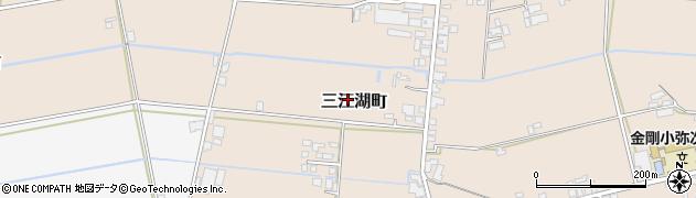 熊本県八代市三江湖町周辺の地図