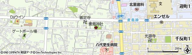 麦島神社周辺の地図