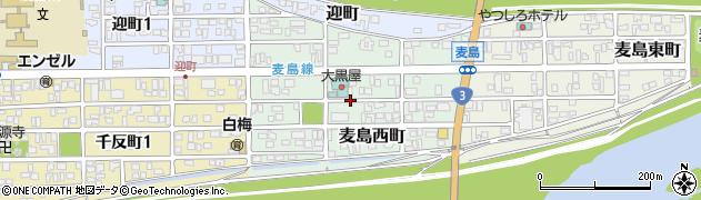 熊本県八代市麦島西町周辺の地図