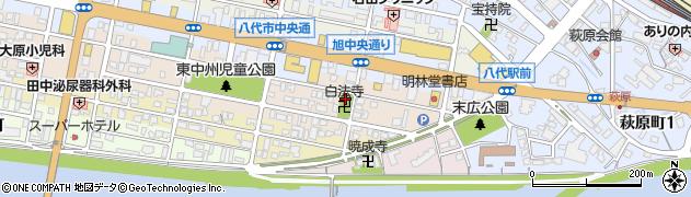 白法寺周辺の地図