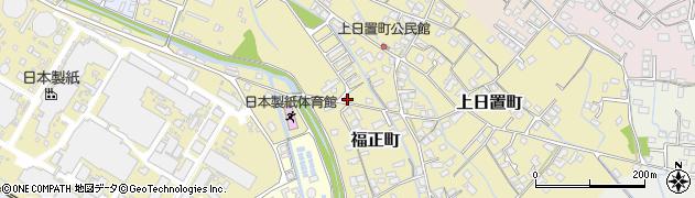 熊本県八代市福正町周辺の地図