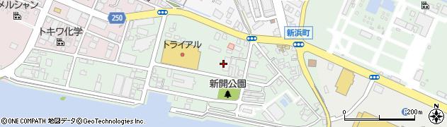 熊本県八代市新開町周辺の地図