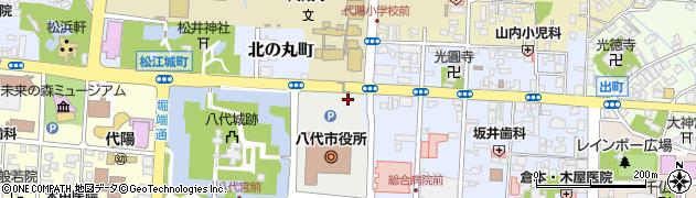 熊本県八代市周辺の地図