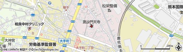 毘沙門天寺周辺の地図