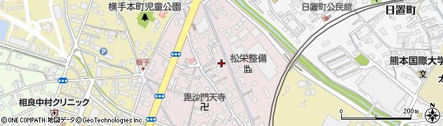 熊本県八代市毘舎丸町周辺の地図
