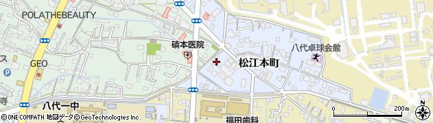 熊本県八代市松江本町周辺の地図