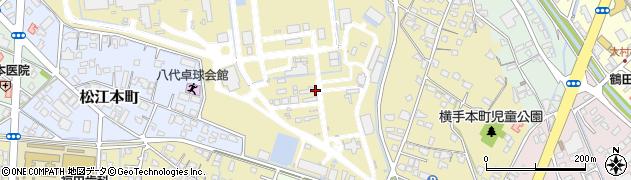 熊本県八代市興国町周辺の地図