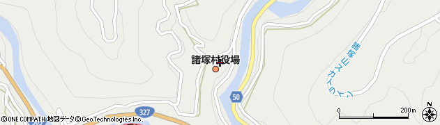 宮崎県東臼杵郡諸塚村周辺の地図