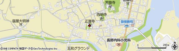 正蓮寺周辺の地図