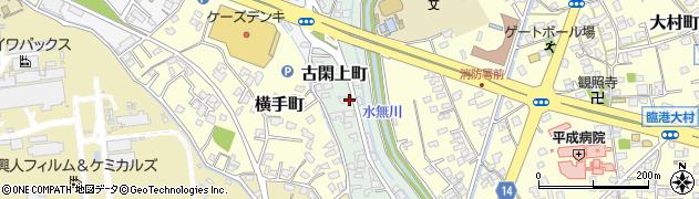 熊本県八代市古閑上町周辺の地図