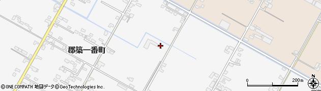 熊本県八代市郡築一番町周辺の地図