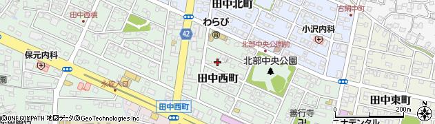 熊本県八代市田中西町周辺の地図