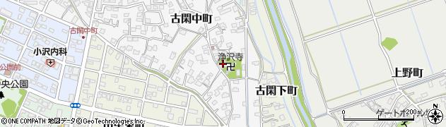 浄沢寺周辺の地図