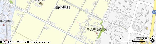熊本県八代市高小原町周辺の地図