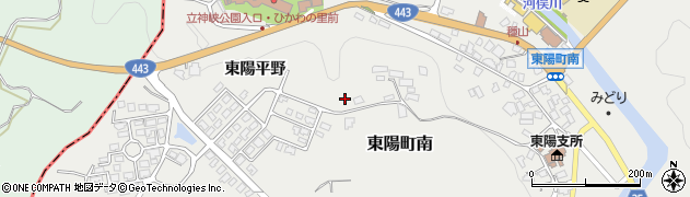 熊本県八代市東陽町南(東陽平野)周辺の地図