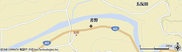 熊本県八代市東陽町北(差野)周辺の地図