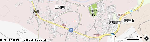 宮崎県延岡市三須町周辺の地図