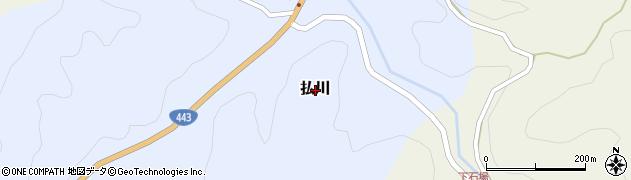 熊本県美里町(下益城郡)払川周辺の地図