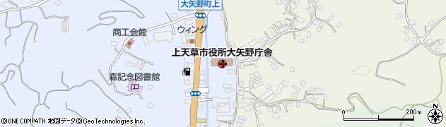 熊本県上天草市周辺の地図