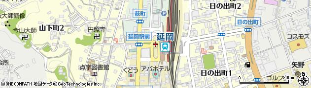 延岡駅自動車整理場駐車場周辺の地図