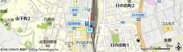 宮崎県延岡市周辺の地図