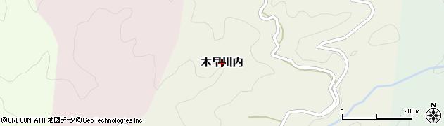 熊本県美里町(下益城郡)木早川内周辺の地図