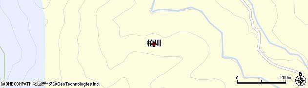熊本県美里町(下益城郡)柏川周辺の地図