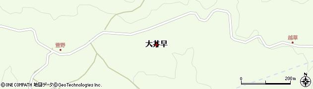 熊本県美里町(下益城郡)大井早周辺の地図