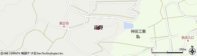 熊本県美里町(下益城郡)遠野周辺の地図
