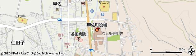 熊本県上益城郡甲佐町周辺の地図