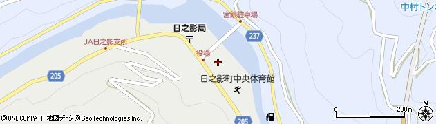 宮崎県日之影町(西臼杵郡)周辺の地図