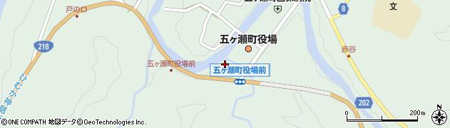 宮崎県西臼杵郡五ヶ瀬町周辺の地図