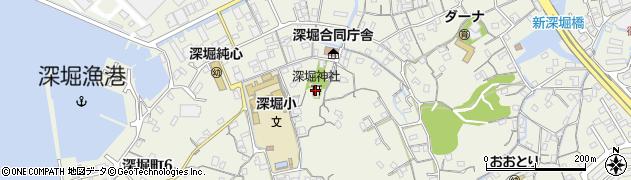 深堀神社周辺の地図