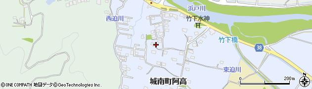 熊本県熊本市南区城南町阿高周辺の地図